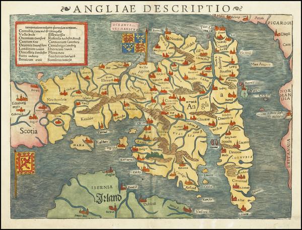 30-England Map By Sebastian Munster