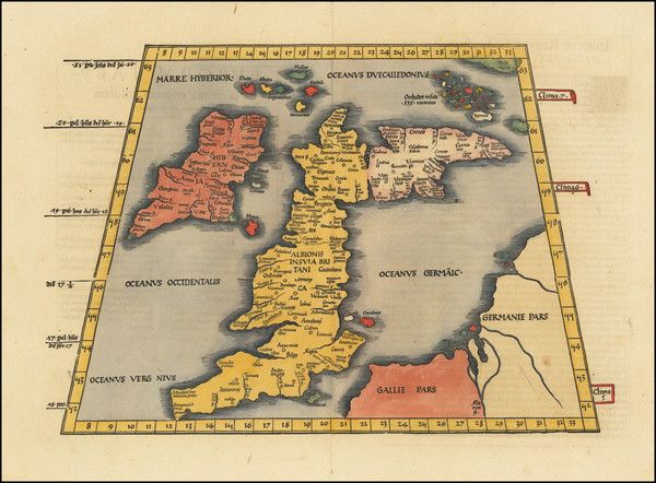14-British Isles, England, Scotland and Ireland Map By Lorenz Fries