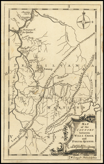 81-Mid-Atlantic, Pennsylvania and Midwest Map By Gentleman's and London Magazine