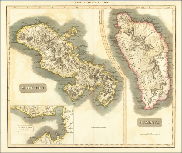 43-Other Islands and Martinique Map By John Thomson