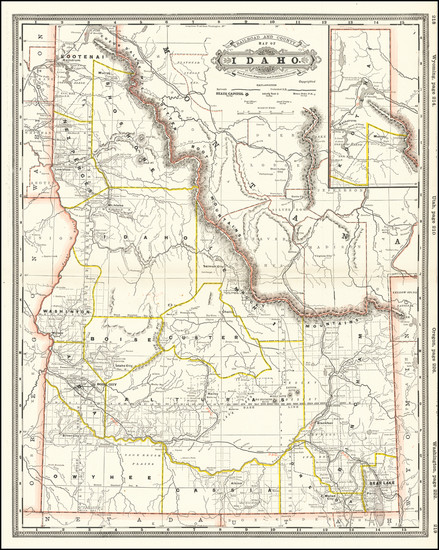 61-Idaho Map By George F. Cram