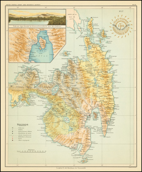 37-Philippines Map By Hoen & Co.