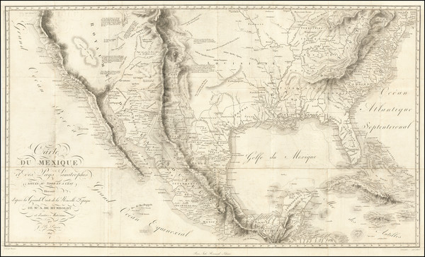 62-Texas, Plains, Southwest, Rocky Mountains, Mexico and California Map By Alexander Von Humboldt
