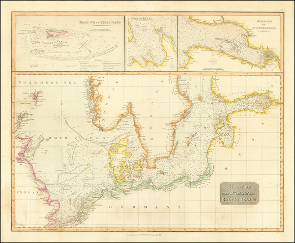 96-Baltic Countries, Scandinavia and Norddeutschland Map By John Thomson