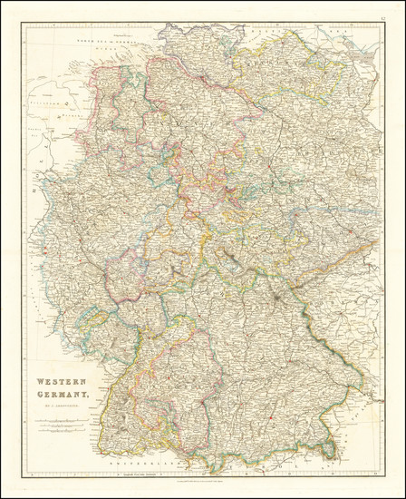 44-Germany Map By John Arrowsmith