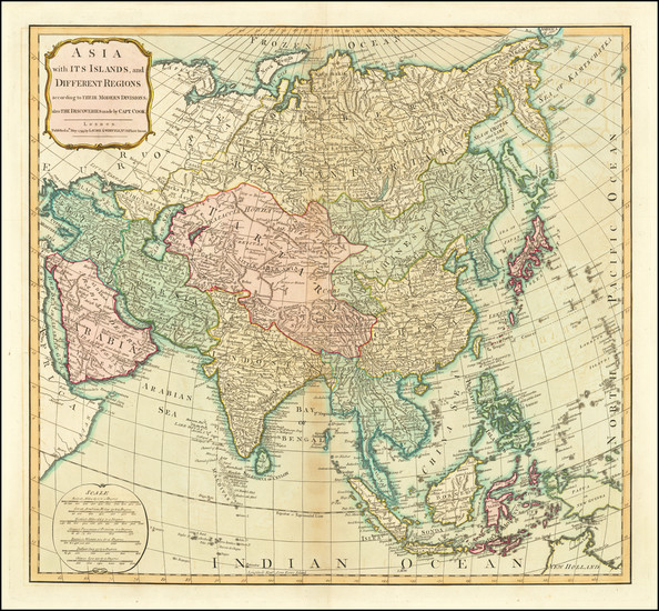 47-Asia Map By Laurie & Whittle
