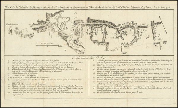 95-Mid-Atlantic, New Jersey and American Revolution Map By Michel Rene Hilliard d'Auberteuil