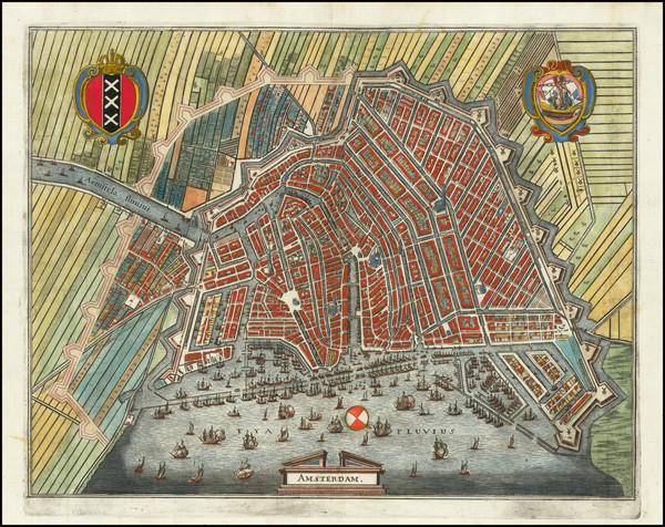 96-Netherlands Map By Matthaus Merian