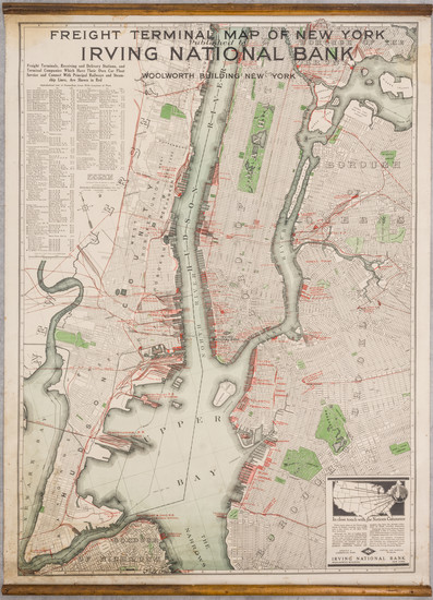 47-New York City Map By Nelson P. Lewis / Redfield-Kendrick-Odell Co.
