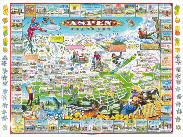 59-Colorado, Colorado and Pictorial Maps Map By Chris Costello