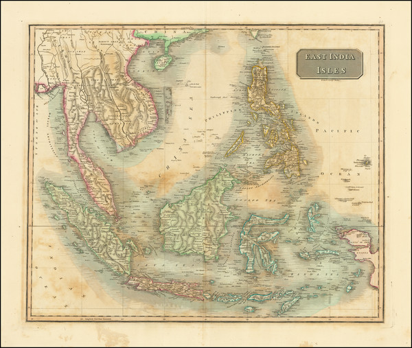 34-Southeast Asia, Philippines, Indonesia, Malaysia and Thailand, Cambodia, Vietnam Map By John Th