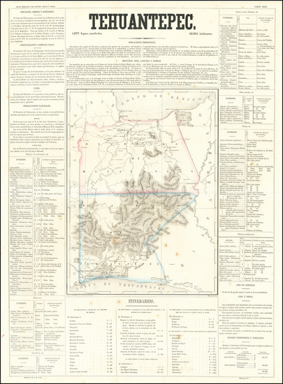 11-Mexico Map By Antonio Garcia y Cubas