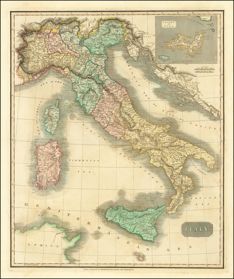 28-Italy Map By John Thomson