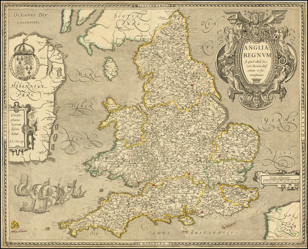 41-England Map By Jean Le Clerc