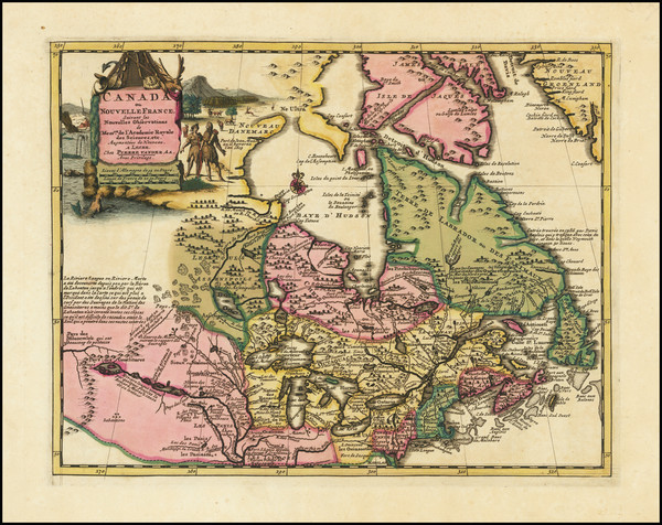 11-New England, Midwest and Canada Map By Pieter van der Aa