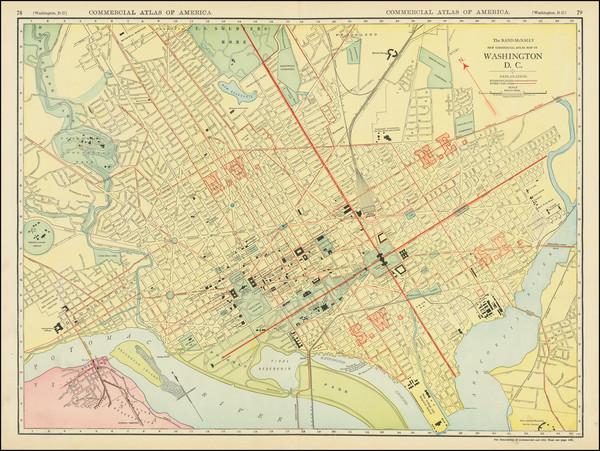 10-Washington, D.C. Map By Rand McNally & Company