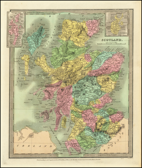 13-Scotland Map By David Hugh Burr
