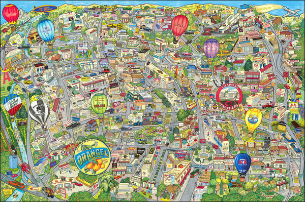 70-Pictorial Maps and Other California Cities Map By Promotional Concepts