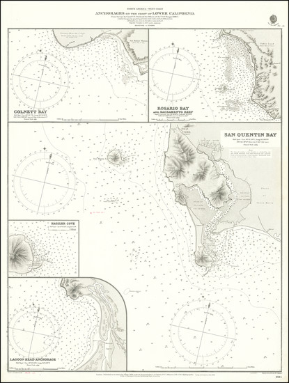 31-Baja California Map By British Admiralty