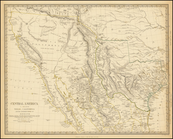 29-Texas, Southwest, Rocky Mountains and California Map By SDUK