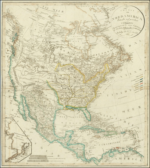 17-North America Map By Christian Gottlieb Reichard