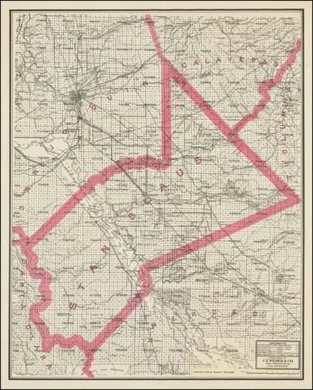 0-California Map By Punnett Brothers