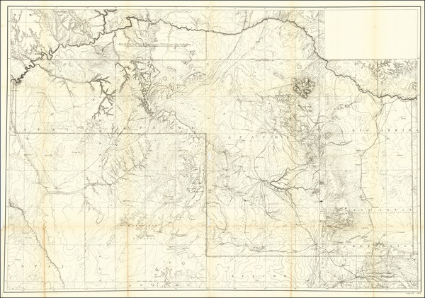 77-Arizona, Utah, New Mexico and Utah Map By United States GPO