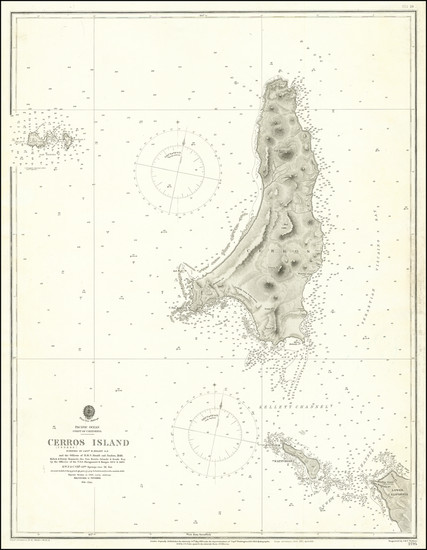 82-Baja California Map By British Admiralty