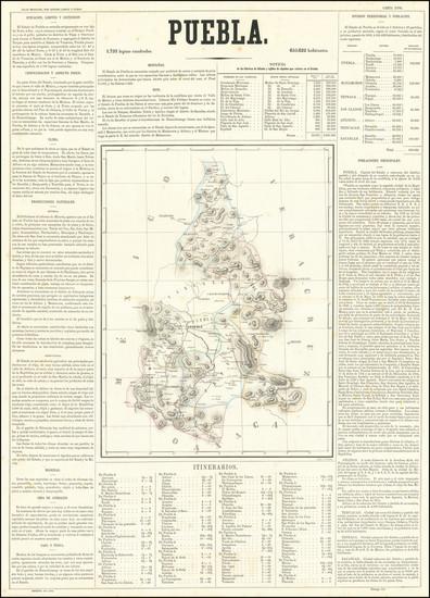 12-Mexico Map By Antonio Garcia y Cubas