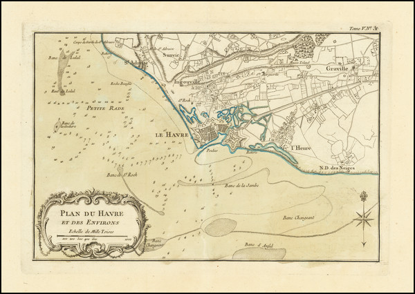 5-Other French Cities Map By Jacques Nicolas Bellin