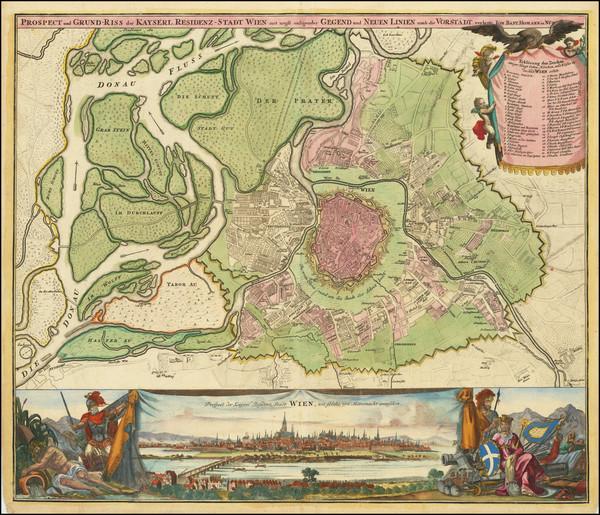 52-Austria Map By Johann Baptist Homann