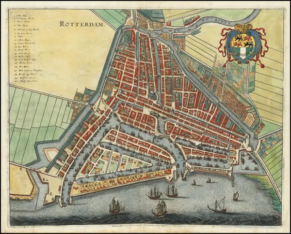 20-Netherlands Map By Matthaus Merian