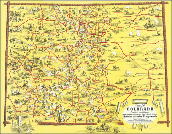 54-Colorado, Colorado and Pictorial Maps Map By Ray Schmidt