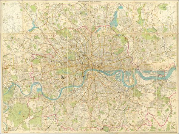 43-London Map By John Bartholomew
