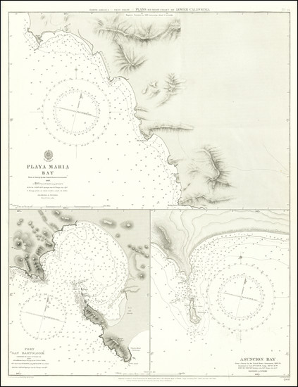 96-Baja California Map By British Admiralty