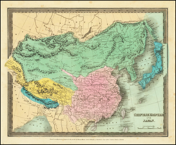 41-China, Japan and Korea Map By David Hugh Burr