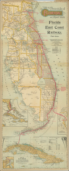 95-Florida Map By Matthews-Northrup & Co.