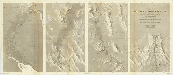 87-Southwest, Arizona, Nevada, New Mexico and California Map By Joseph C. Ives