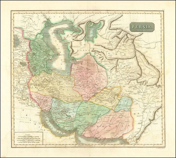 82-Central Asia & Caucasus, Middle East and Persia Map By John Thomson