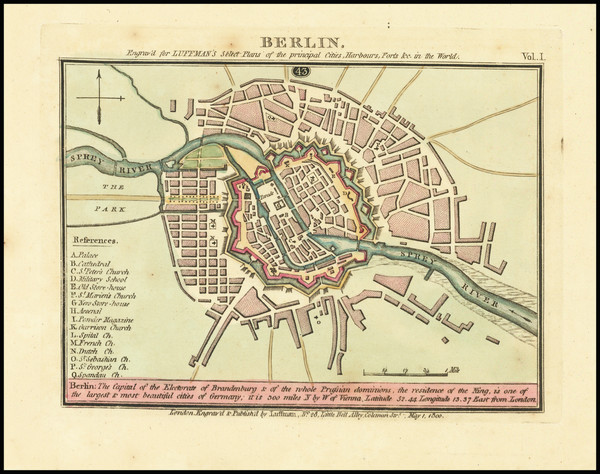 90-German Cities Map By John Luffman
