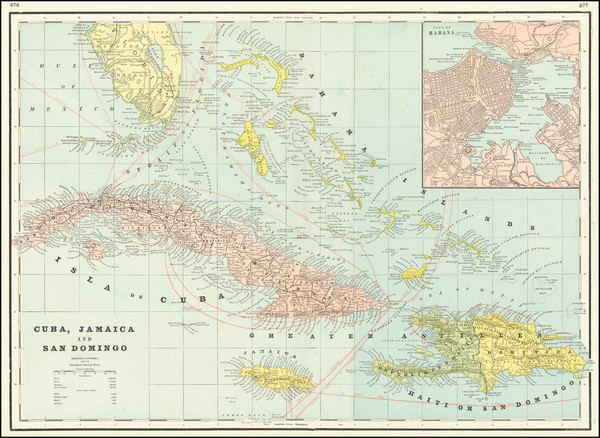 26-Caribbean Map By George F. Cram