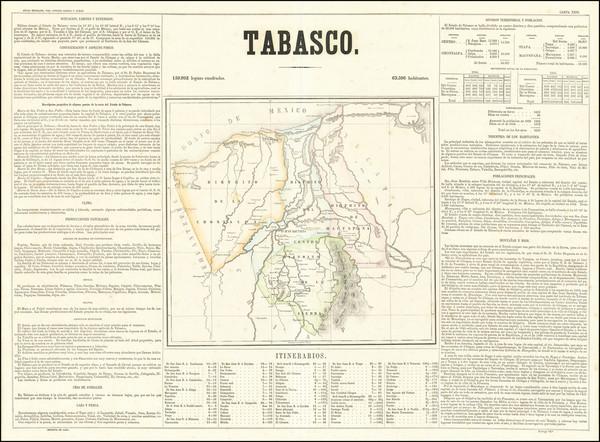 18-Mexico Map By Antonio Garcia y Cubas