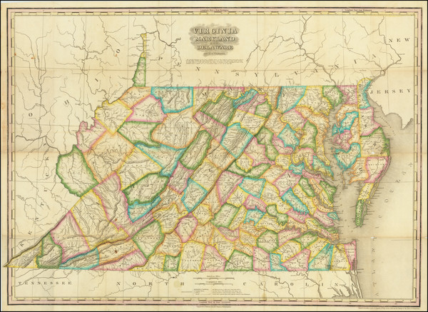 80-Maryland, Delaware and Virginia Map By Henry Schenk Tanner