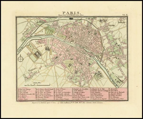 90-Paris Map By John Luffman
