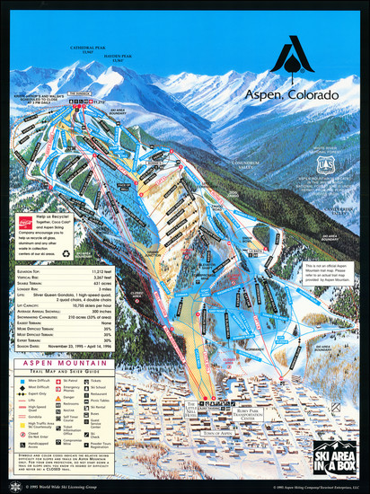 44-Colorado, Colorado and Pictorial Maps Map By Aspen Skiing Corporation
