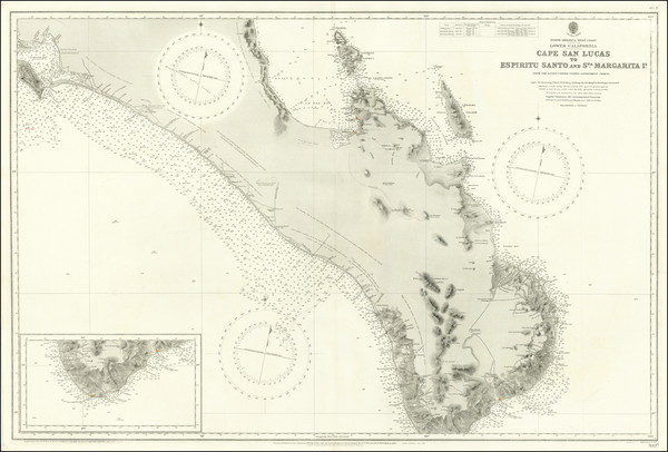 74-Baja California Map By British Admiralty
