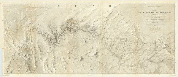 16-Southwest, Arizona, Nevada, New Mexico and California Map By Joseph C. Ives