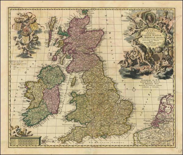 24-British Isles Map By Claes Janszoon Visscher
