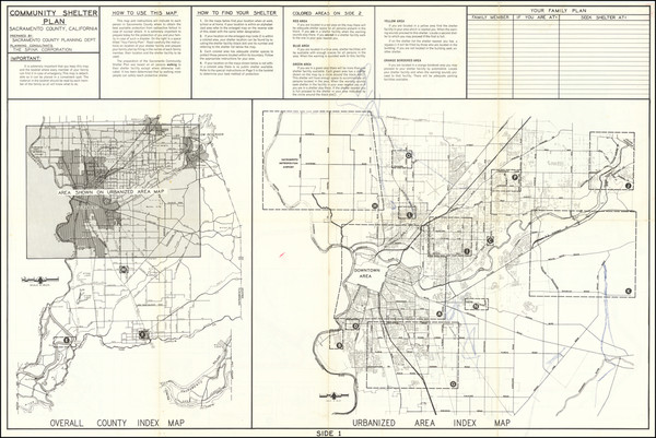 63-California and Other California Cities Map By Sacramento County Planning Department