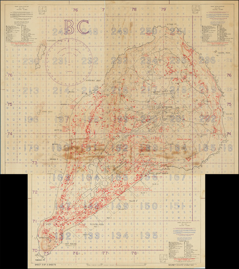 51-Japan, Other Pacific Islands and World War II Map By U.S. Navy Photographic Interpretation Squa